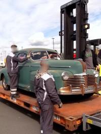 Pontiac Streamliner 1941 aus den USA nach Deutschland.